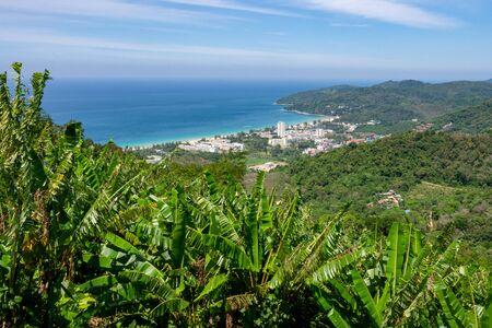 View from hill on Karon beach, Phuket, Thailand