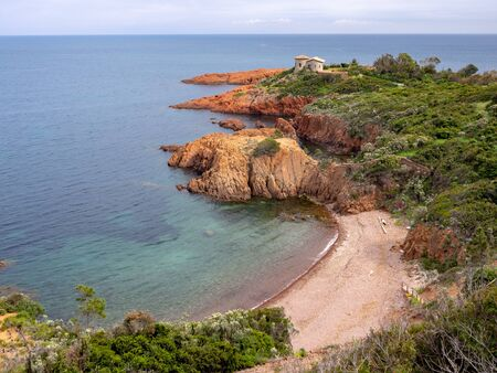 Cap Roux beach on French Riviera near Saint-Raphael
