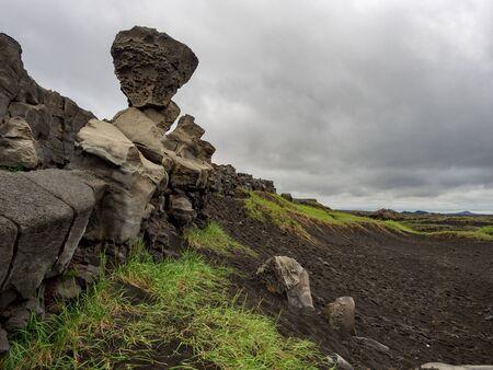 Landscape at Miðlína in southern Iceland