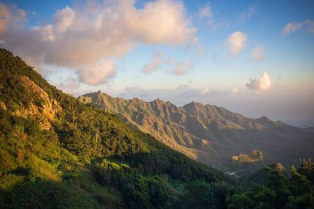Landscape in Anaga mountains, Tenerife Canary Islands, Spain