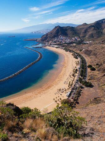 Las Teresitas beach near San Andres, Tenerife, Canary Islands, Spain