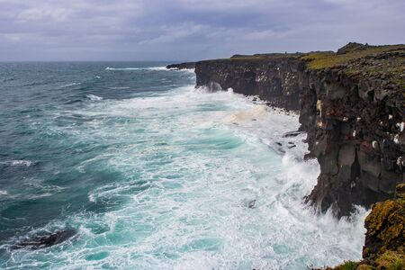Hafnarberg cliffs, Reykjanes Peninsula in southern Iceland