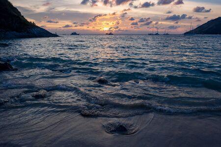 Sunset on Nai Harn beach, Phuket, Thailand