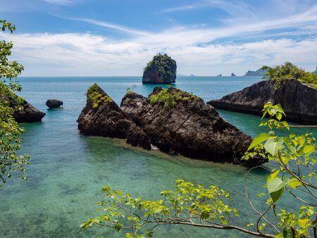 Bay with crystal clear water near Railay beach in Krabi, Thailand Reklamní fotografie