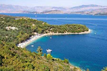 High angle view on Kerasia beach on Corfu island, Greece Reklamní fotografie