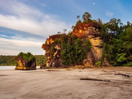 Landscape in Bako National Park, Sarawak, Borneo