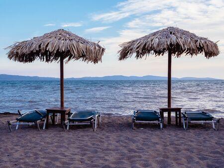Beach in Skala Kallonis on Lesbos, Greece Reklamní fotografie