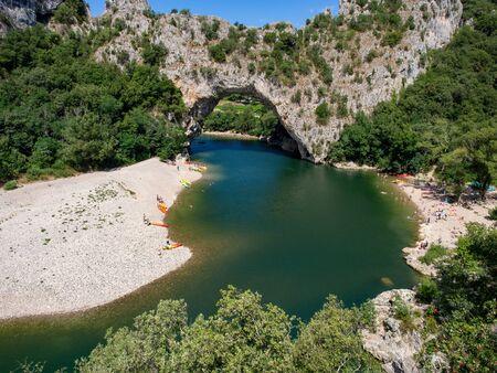 Pont dArc on Ardechce river, France