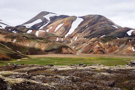 Volcanic landscape at Landmannalaugar, Iceland
