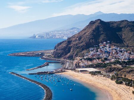High angle view on San Andres village on Tenerife, Spain