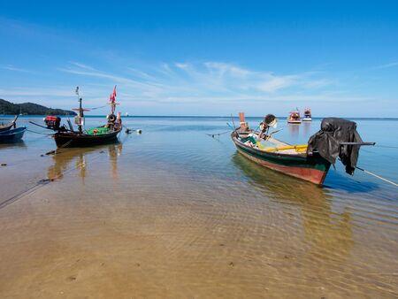Fishing boats in Sirinat national park, Phuket, Thailand