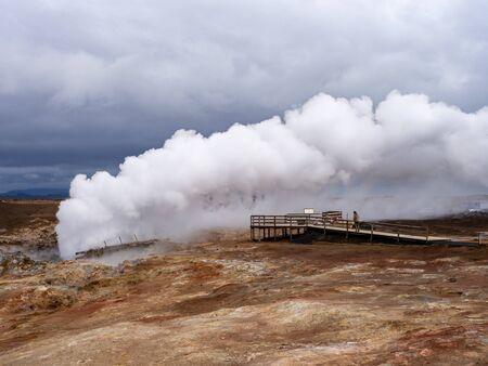 Gunnuhver hot springs in South Iceland Reklamní fotografie