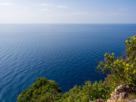 High angle view from viewpoint on Koh Rok island in southern Thailand
