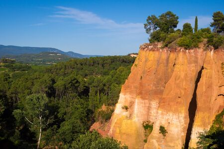 Ochre mines in Rousillon village in Provence, France