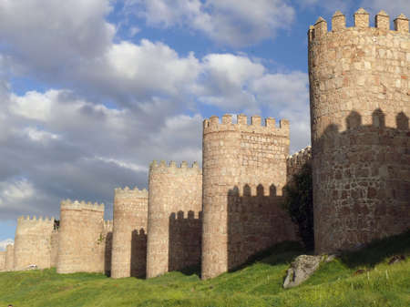 ancient townwall from Avila  Spain Stock Photo