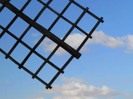 windmill with blue sky Consuegra / La Mancha / Spain