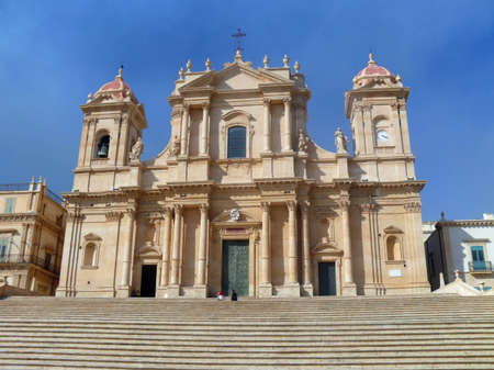 Cathedral of baroque city Noto  Sicily  Italy