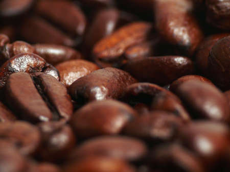 fair traded coffee beans close-up
