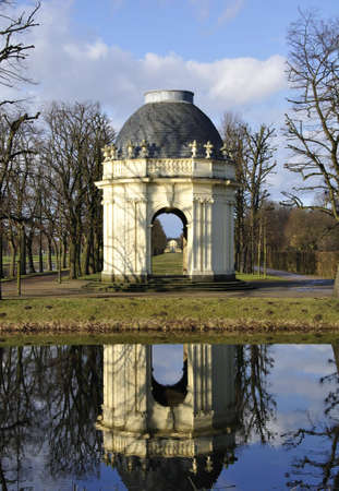 pavillon at herrenhausen baroque gardens in hannover