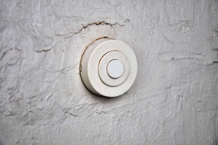 retro bell button on cappy wall