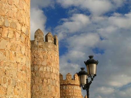 medieval town walls of Avila in Spain