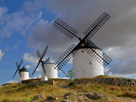 medieval windmills of La Mancha, Spain photo