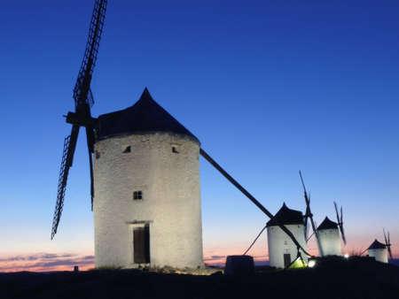 medieval windmills of La Mancha, Spain