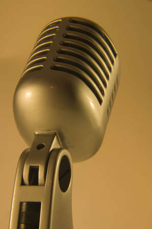 retro microphone isolated
