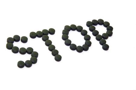 stop metapher of taking pills as addiction