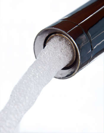 bubbling, flowing water from the tap isolated