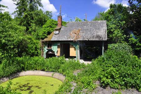 old ruin hut near Hanover, Germany Stock Photo