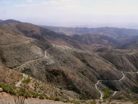 Gebirgspass im Südatlas, Marokko
