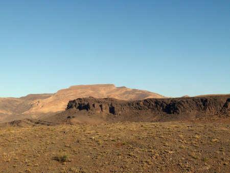 Wüstenlandschaft in der autonomen Region Westsahara, Marokko Stock Photo
