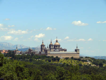 el escorial, old heritage kings building in spain photo