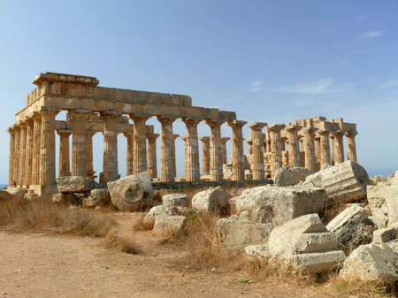 ancient temple of selinunte, sicily, italy Stock Photo