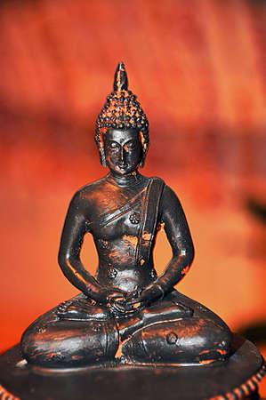 statue of a sitting buddha Stock Photo