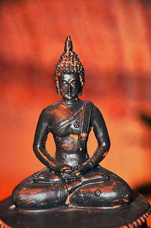 statue of a sitting buddha Standard-Bild