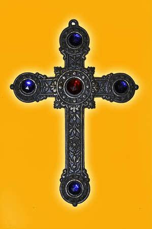 old silver crucifix