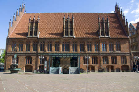 old gothic style townhall of hannover germany Stock Photo