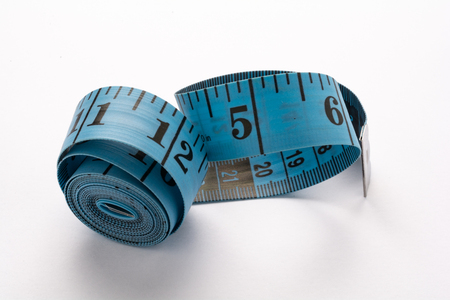 Roll of blue tape measure