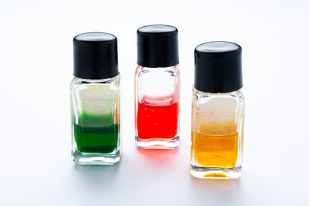 Essential color oils for aromatherapy 版權商用圖片