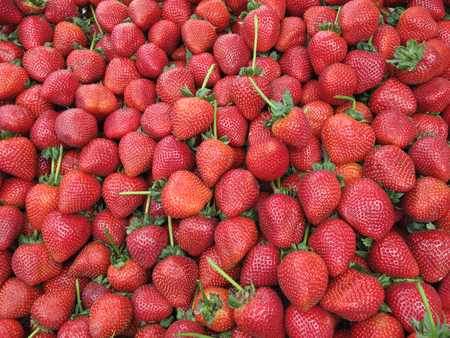 Bunch of strawberries making a texture