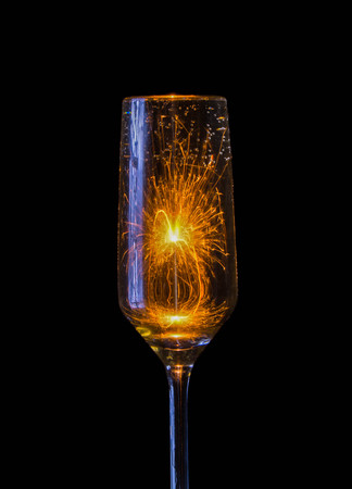 Flare in champagne