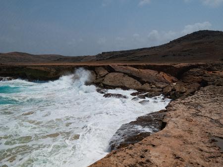 Rough sea in the island Stock Photo