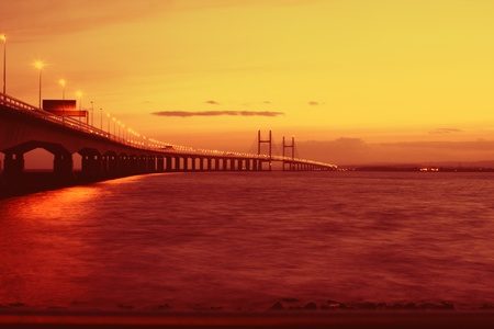 severn: The Severn Bridge on the England and Wales border Stock Photo