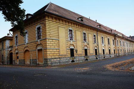 terezin: Un edificio storico inutilizzati a Terezin