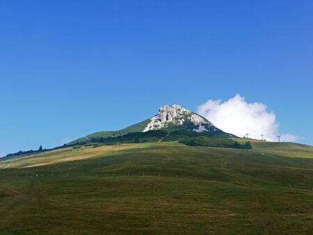 The white horn in the Italian Dolomites in summer