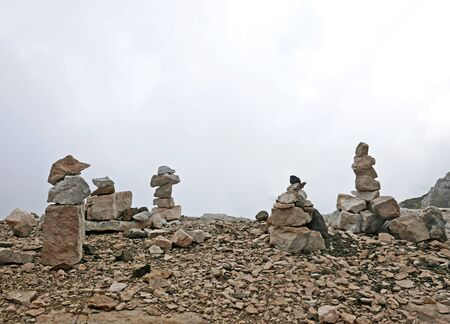 The stones in the rocky paths of hikers Archivio Fotografico