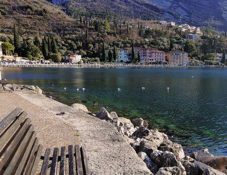 idyllic panorama in Torbole, on Lake Garda in Italy