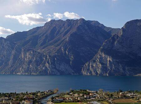 wonderful and scenic scenery of Torbole on Lake Garda Archivio Fotografico